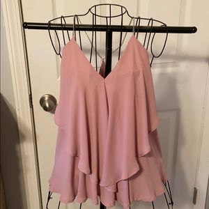 Soft pink chain tank top